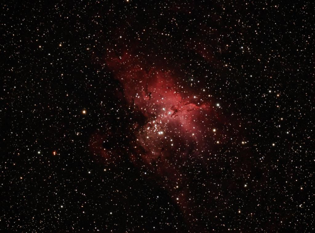 Messier 16 - Nebulosa del Águila en Serpens Caput. (Crédito: Gustavo Sánchez/Observatorio Guajataca)