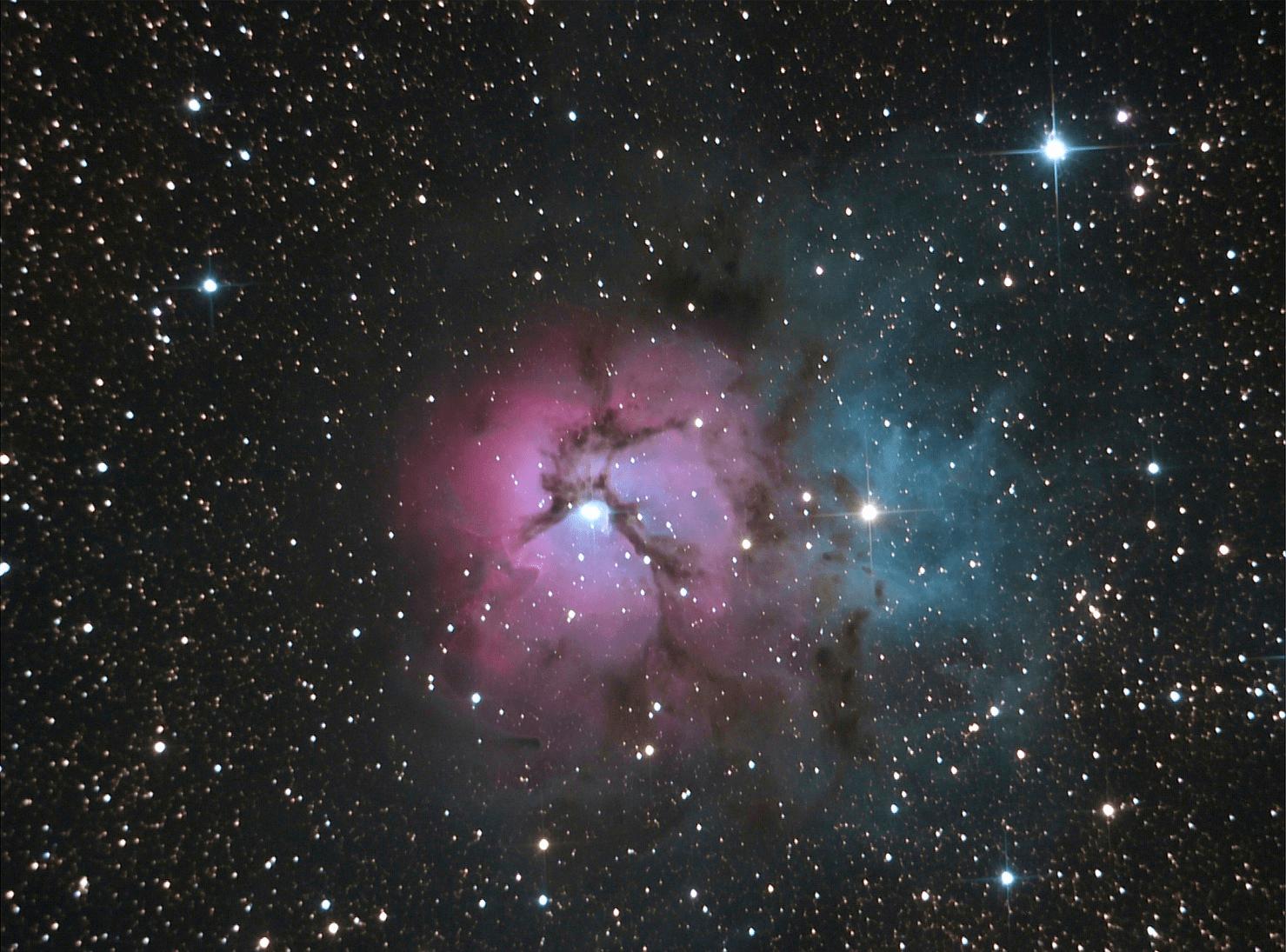 Nebulosa Trífida (Messier 20)