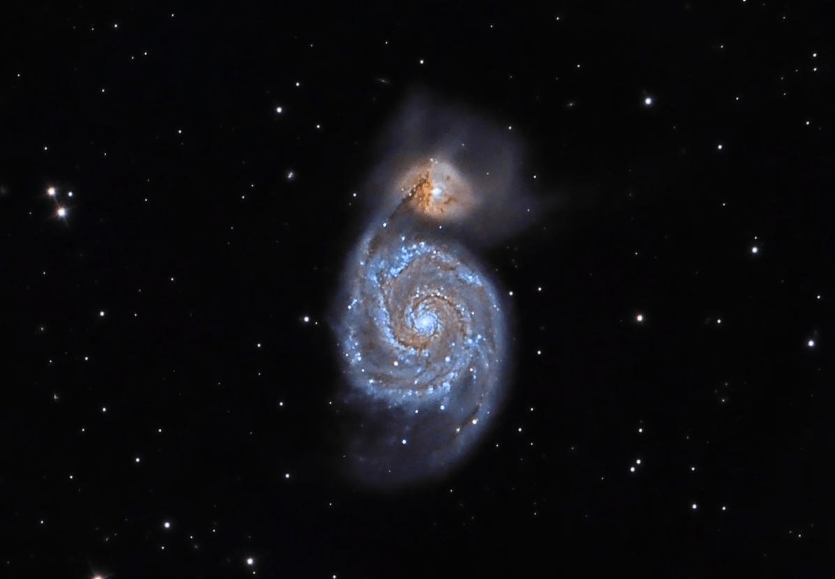 Galaxia Messier 51. Crédito: Gustavo Sánchez/Captando el Cosmos
