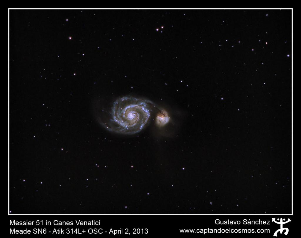 Messier 51 en Canes Venatici (Crédito: Gustavo Sánchez/Captando El Cosmos)