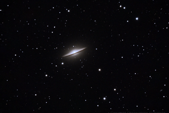 Galaxia del Sombrero o Messier 104. (Crédito: Observatorio Guajataca)