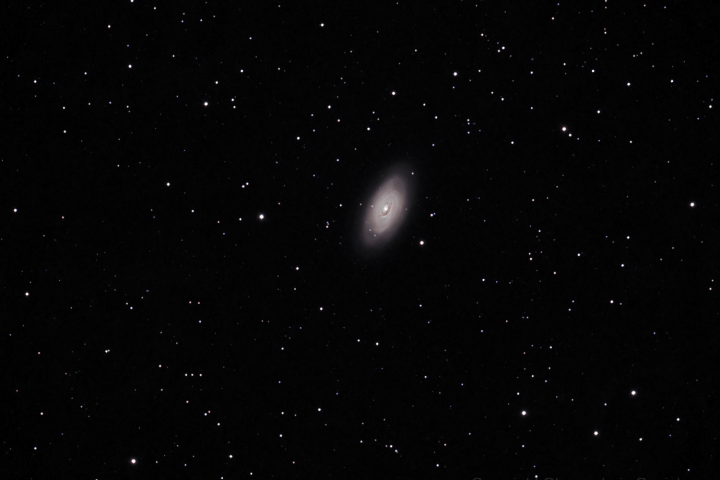 Galaxia del Ojo Negro (Messier 64). (Crédito: Gustavo Sánchez/Observatorio Guajataca)