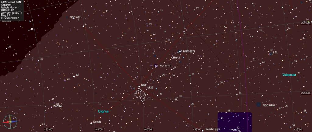 Mapa estelar de NGC 6888.