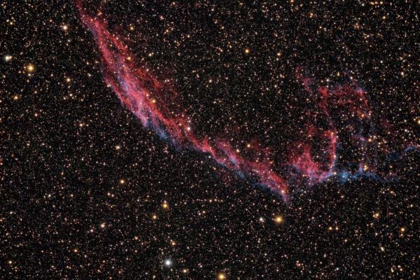 Nebulosa del Velo del Este (NGC 6992) - Crédito: Gustavo Sánchez/Captando el Cosmos