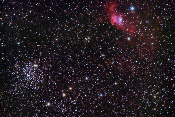 Messier 52 & Bubble Nebula en Cassiopeia (Crédito: Gustavo Sánchez/Captando el Cosmos)