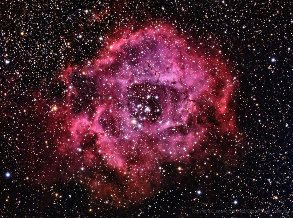 Nebulosa de la Roseta. Crédito: Gustavo Sánchez/Captando el Cosmos