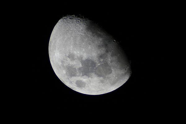 Luna Gibosa Creciente. Crédito: Gustavo Sánchez/Captando el Cosmos