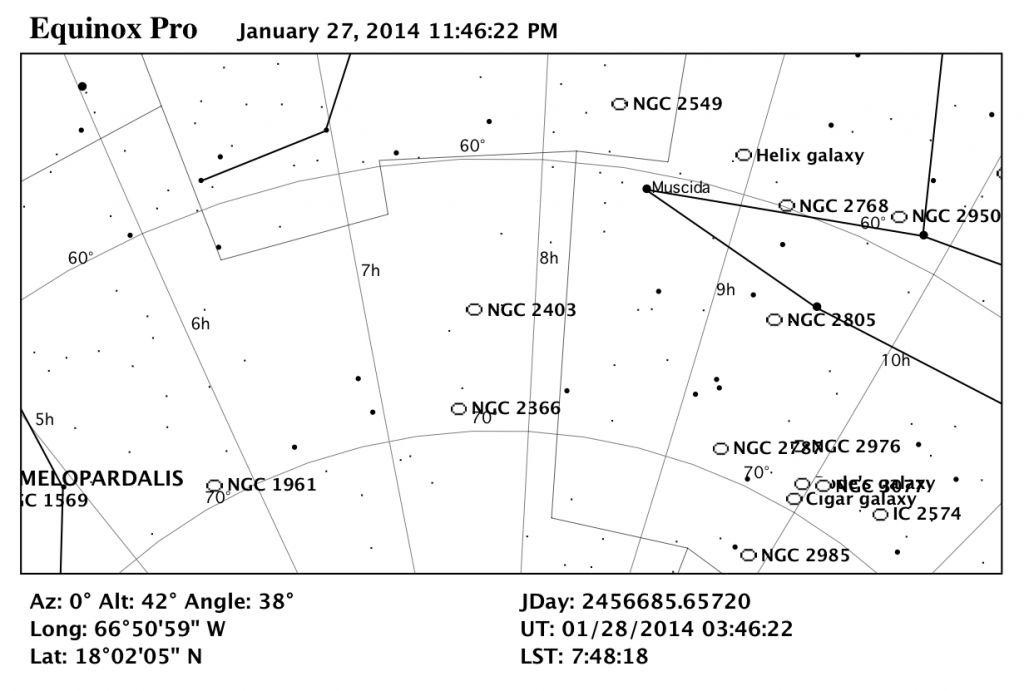 Mapa Estelar de NGC 2403.
