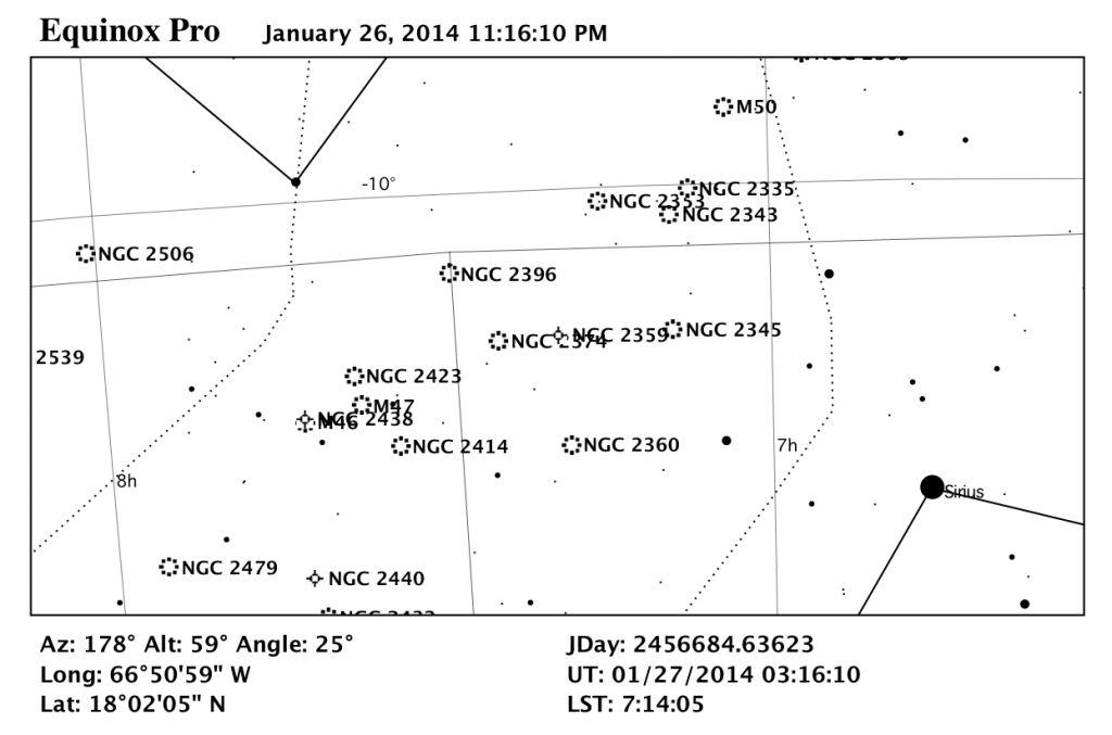 Mapa estelar de NGC 2359.