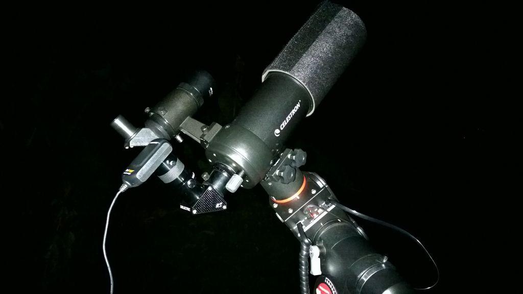 Fotografiando la luna con la Neximage y el Celestron C90.