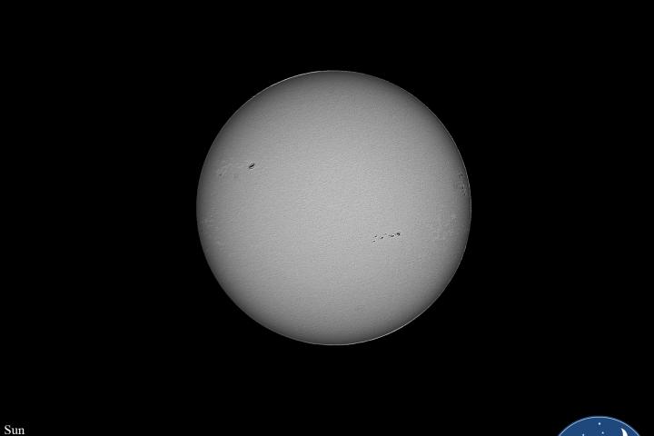 Superficie del sol en luz blanca. Crédito: Gustavo Sánchez/Captando el Cosmos