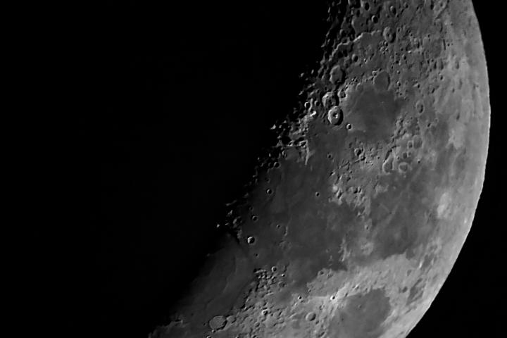 Luna creciente tomada con teléfono Nokia Lumia 1520. Crédito: Gustavo Sánchez/Captando el Cosmos