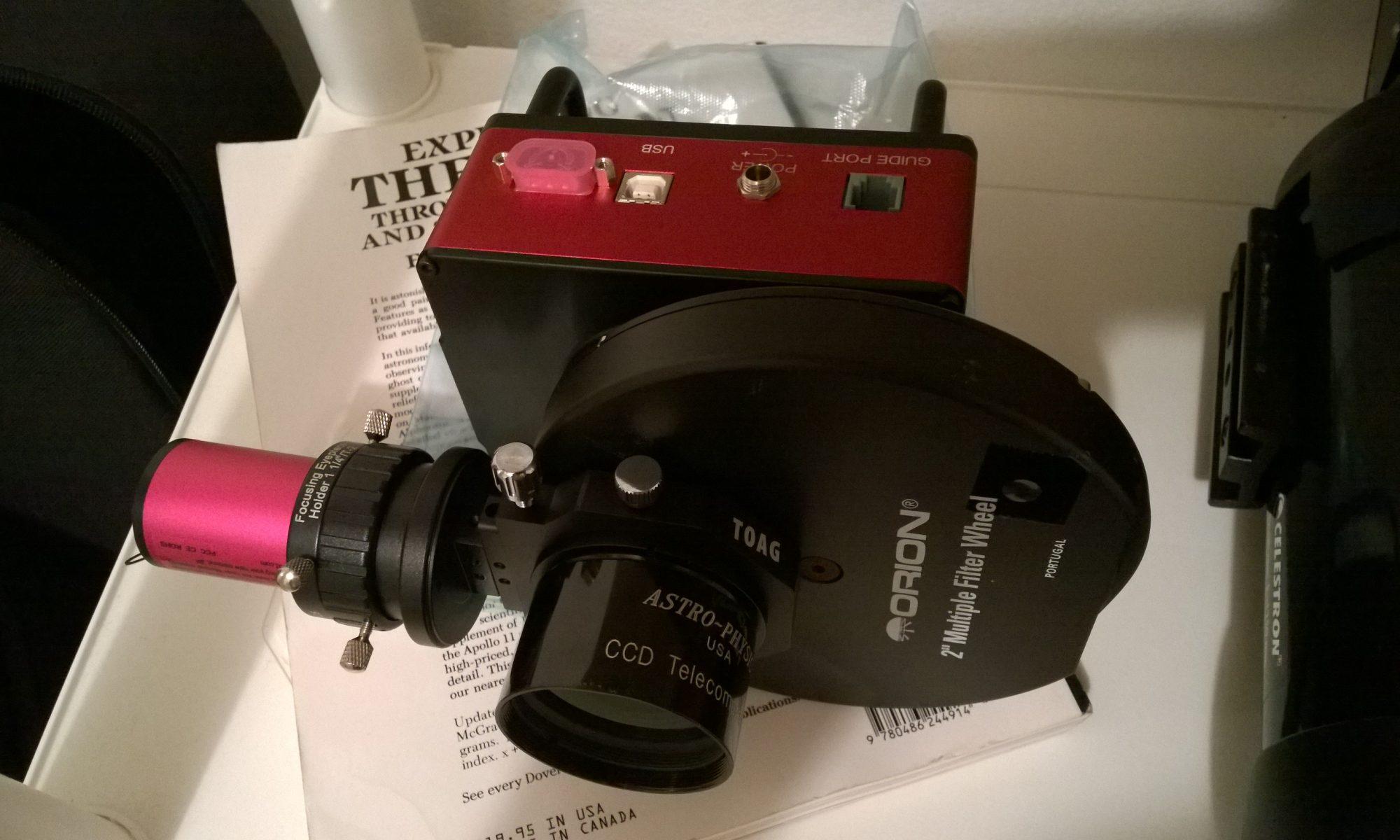 Reductor de focal AP CCDT67 montado frente a todo el tren de captura.