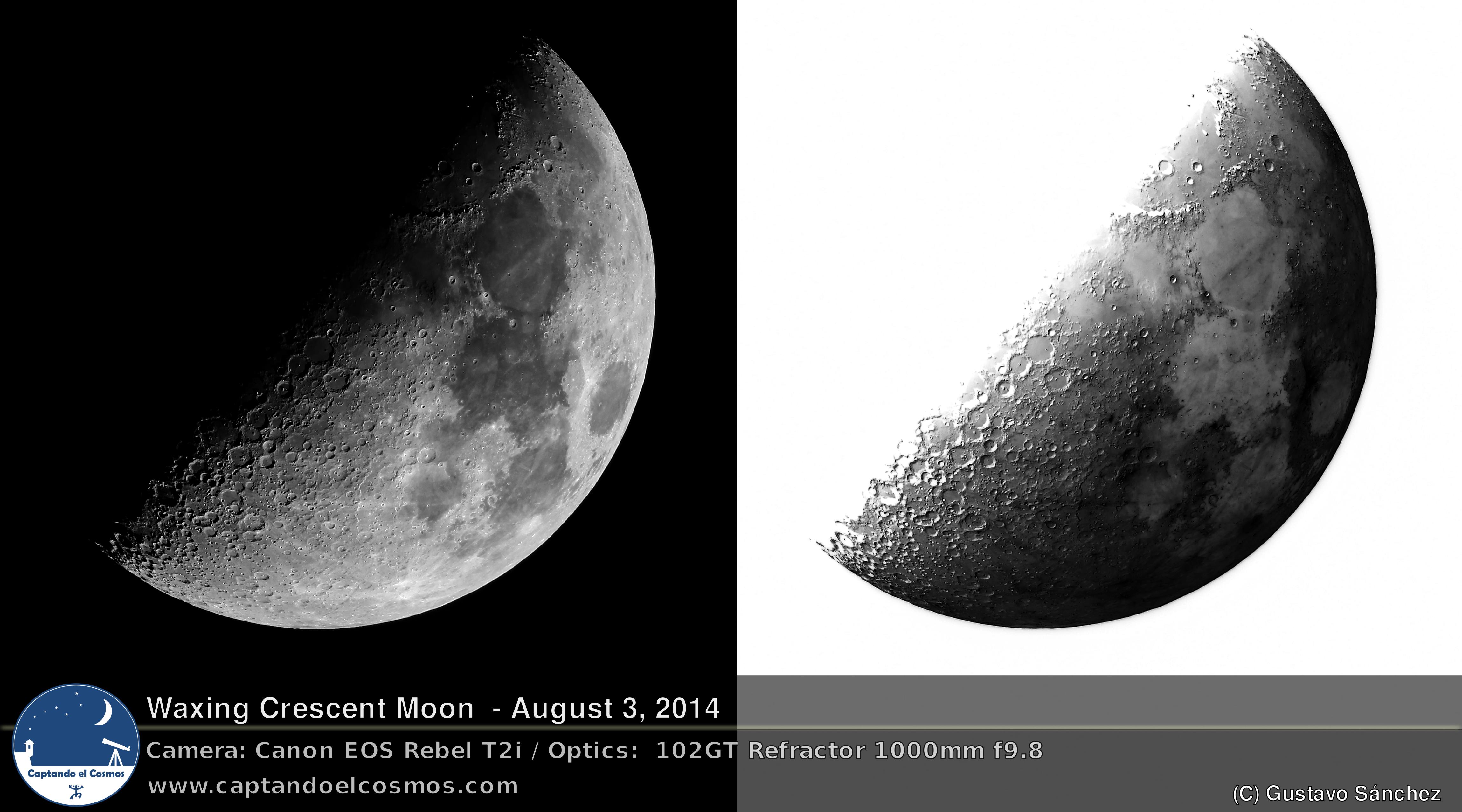 Luna Creciente, 3 de agosto de 2014 – Captando el Cosmos