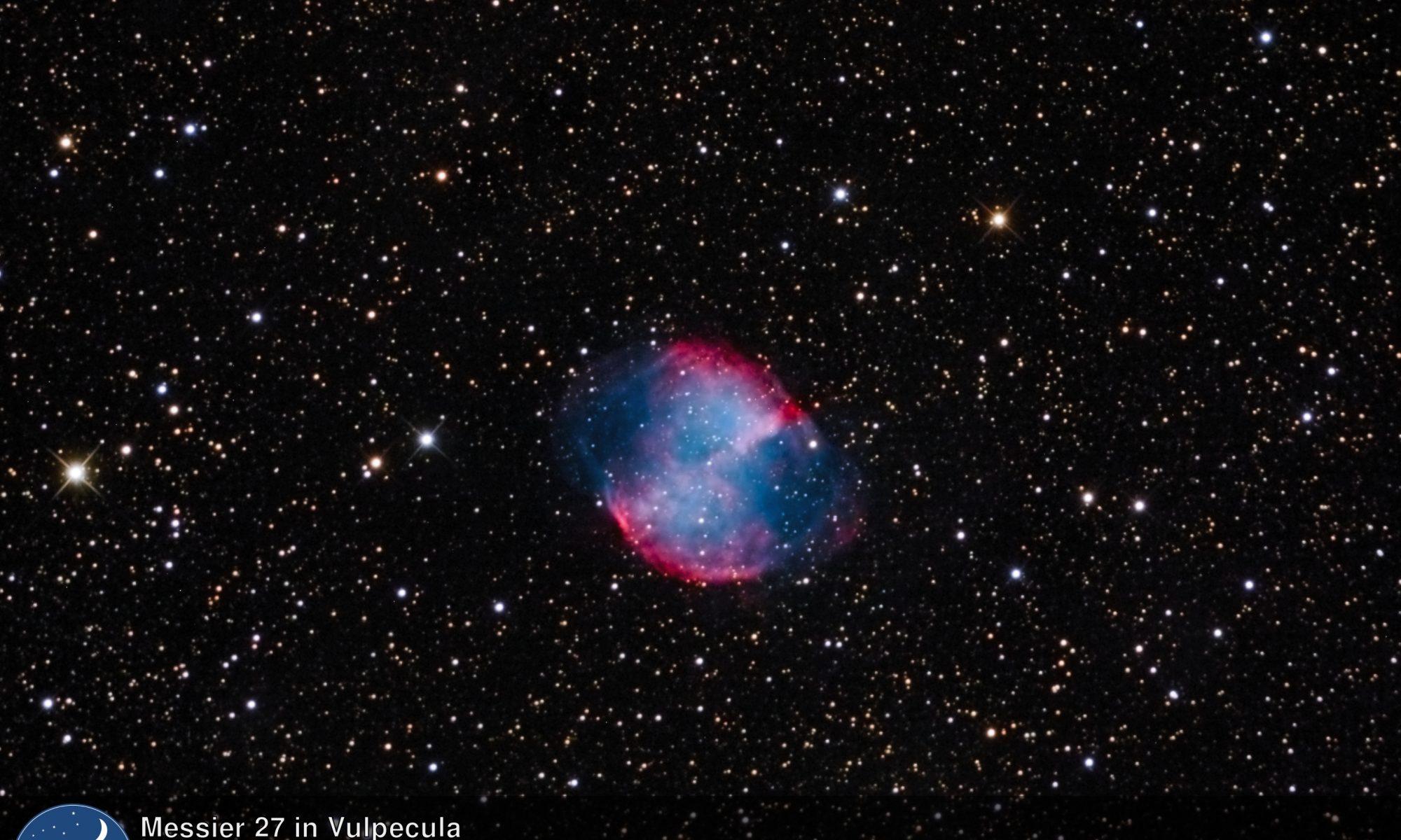 Messier 27 - Nebulosa planetaria en Vulpecula (Crédito: Gustavo Sánchez/Captando el Cosmos)