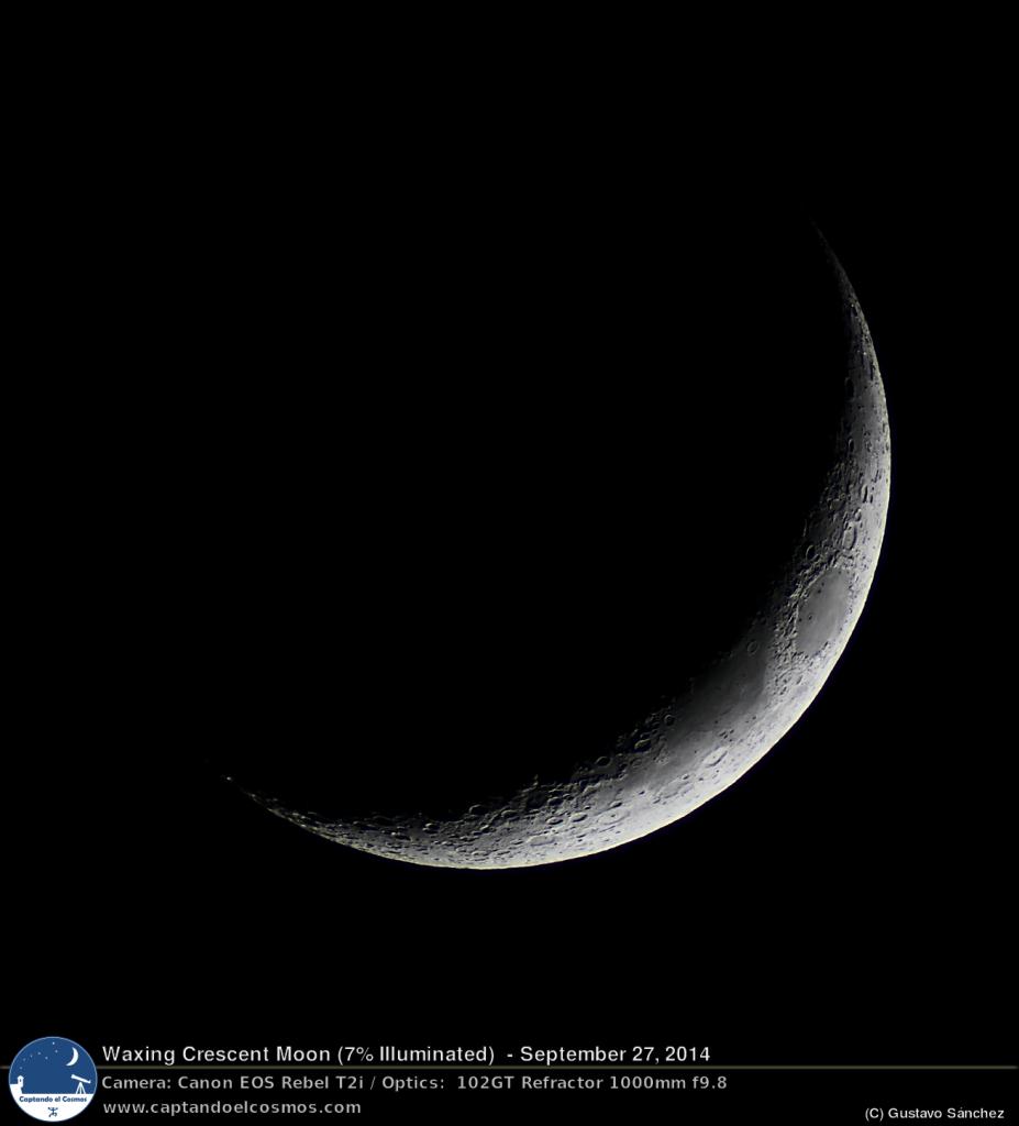 Luna Creciente desde Isabela, PR. Crédito: Gustavo Sánchez/Captando el Cosmos.