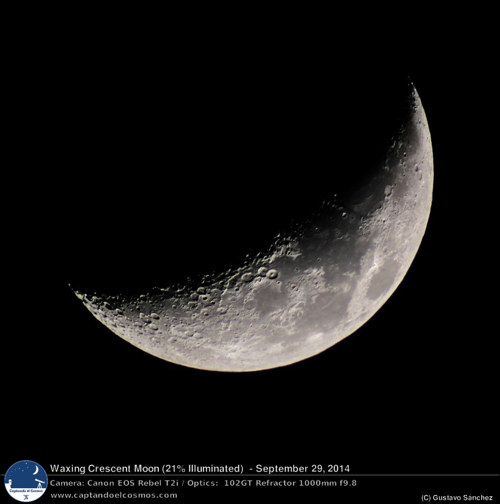 Luna creciente de 29 de septiembre de 2014.