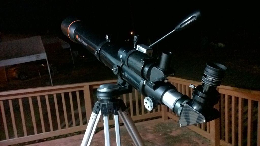 Celestron 102GT con ocular TMB SPL II 6mm.
