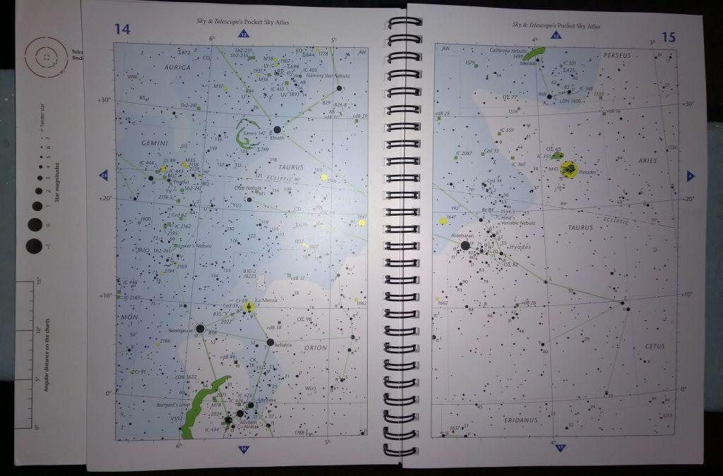 Área de observación de esta noche, entre Orión y Tauro.