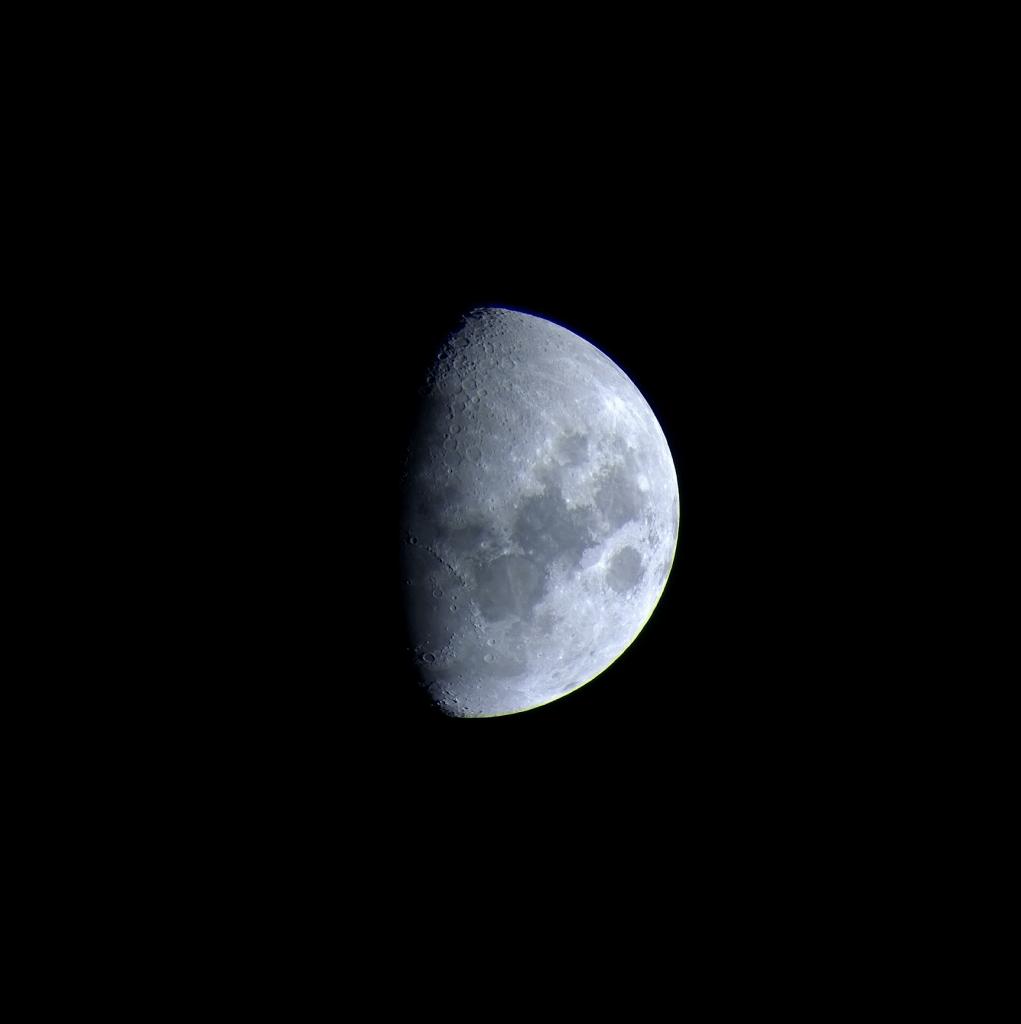 Luna Gibosa en modo afocal. Crédito: Gustavo Sánchez/Captando el Cosmos