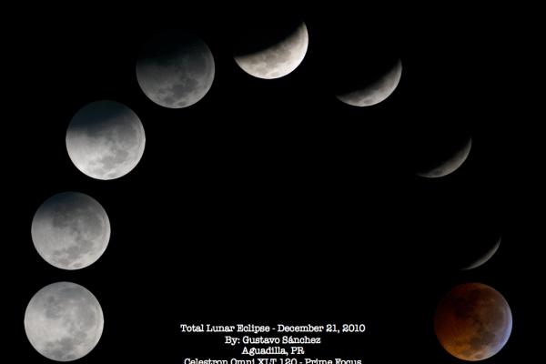 Eclipse Lunar 21 diciembre 2010. Crédito: Gustavo Sánchez/Captando el Cosmos