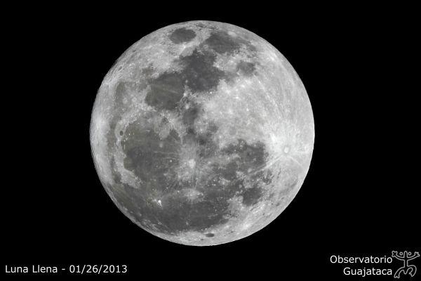 Luna Llena 26 de enero de 2013. Crédito: Gustavo Sánchez/Captando el Cosmos