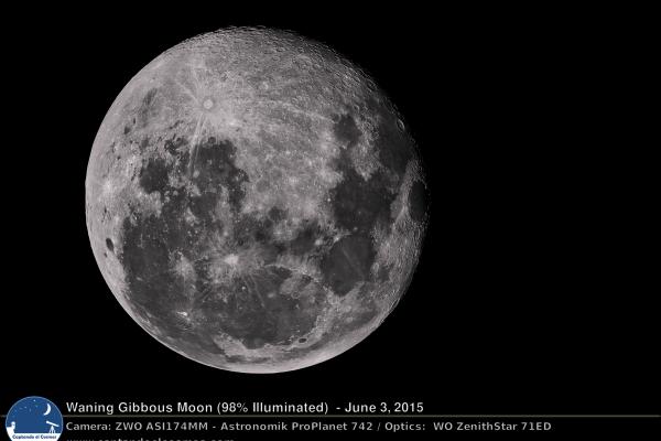 Luna Gibosa Menguante. Crédito: Gustavo Sánchez/Captando el Cosmos