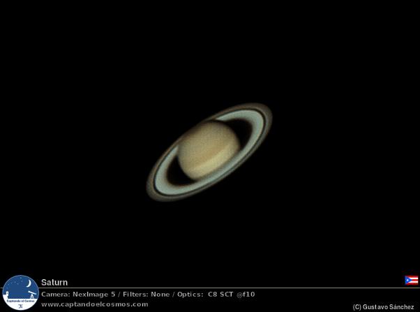 Saturno. Crédito: Gustavo Sánchez/Captando el Cosmos