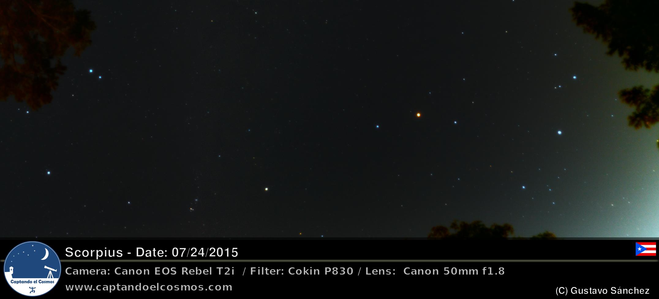 Constelación del Escorpión. Crédito: Gustavo Sánchez / Captando el Cosmos