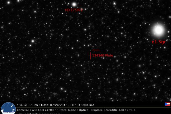 Planeta enano 134340 Plutón. Crédito: Gustavo Sánchez/Captando el Cosmos.
