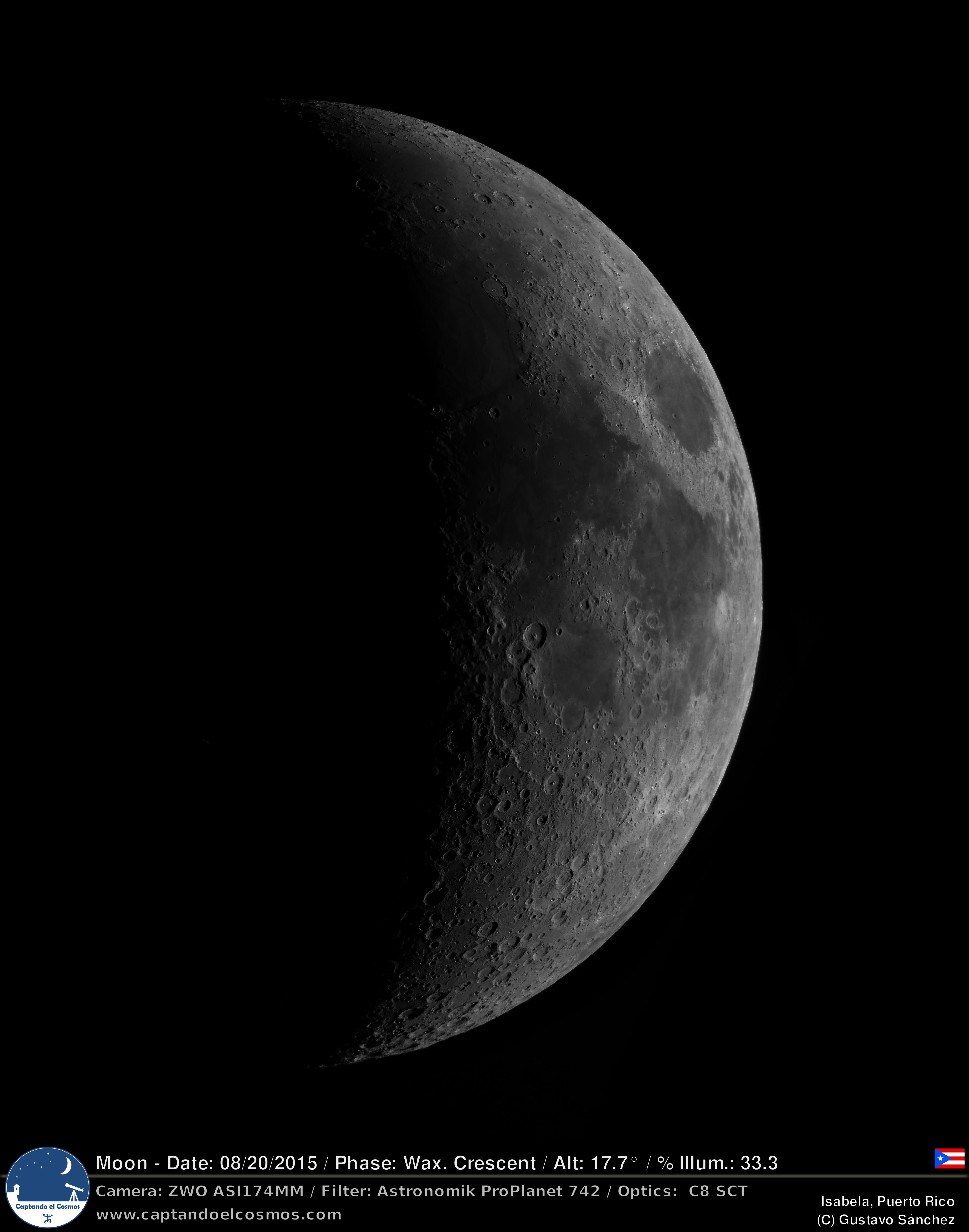Luna Creciente 20-agosto-2015 – Captando el Cosmos