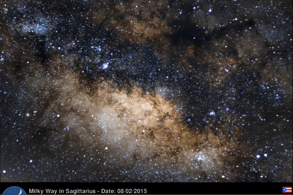 La Vía Láctea en Sagitario. Crédito: Gustavo Sánchez/Captando el Cosmos