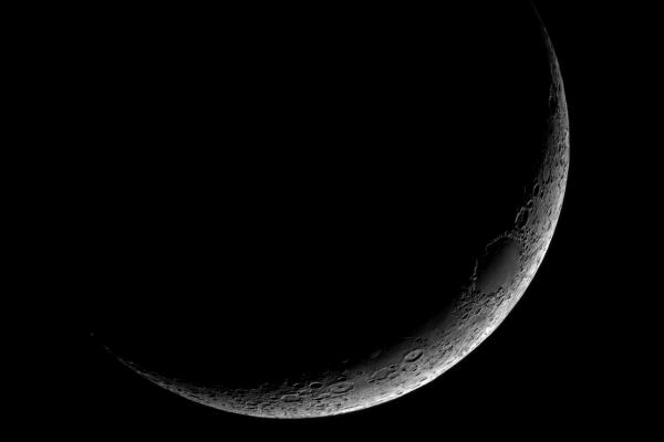 Luna Creciente. Crédito: Gustavo Sánchez/Captando el Cosmos.