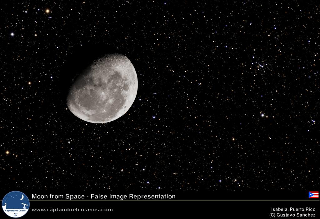La luna desde el espacio. Crédito: Gustavo Sánchez/Captando el Cosmos.