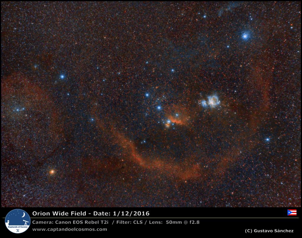 Constelación de Orión. Crédito: Gustavo Sánchez.