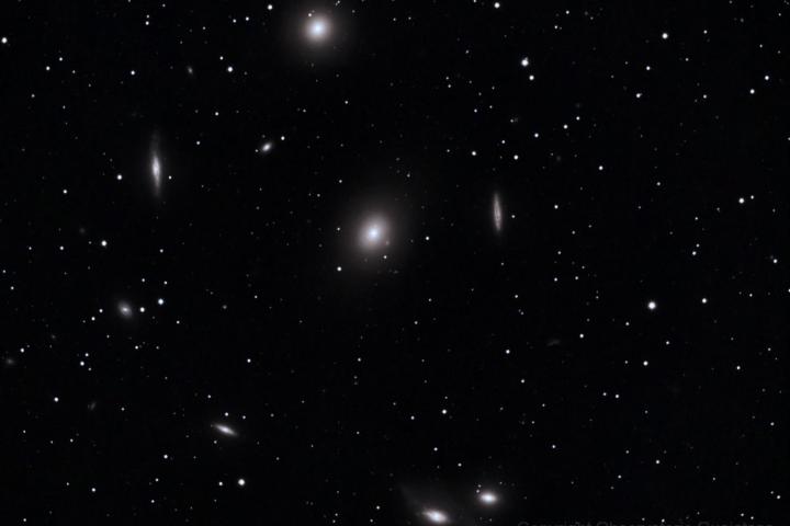 Galaxia elíptica Messier 84. (Crédito: Gustavo Sánchez/Observatorio Guajataca)