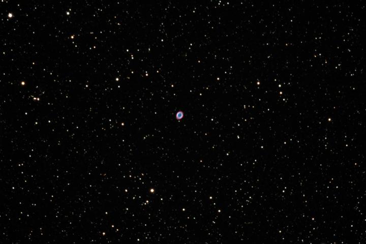 Nebulosa Planetaria del Anillo (Messier 57). (Crédito: Gustavo Sánchez/Observatorio Guajataca)
