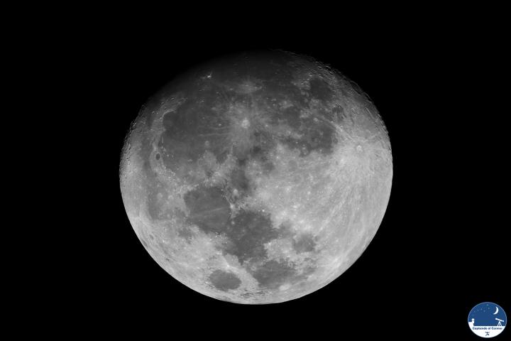 Luna gibosa creciente el 13 de marzo de 2014. Crédito: Gustavo Sánchez/Captando el Cosmos