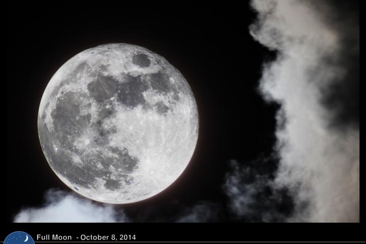 Luna llena del 8 de octubre de 2014. Crédito: Gustavo Sánchez/Captando el Cosmos