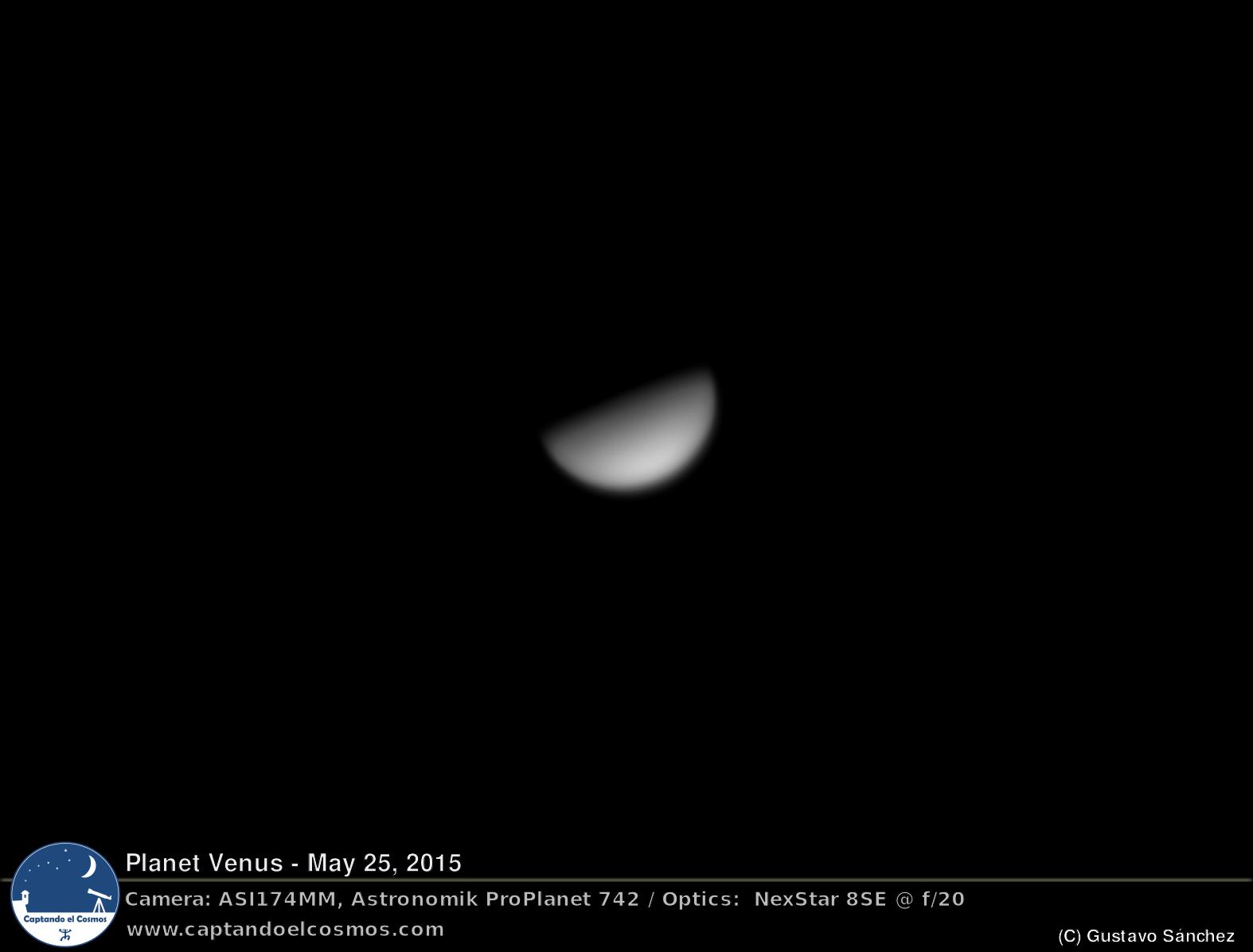Planeta Venus. Crédito: Gustavo Sánchez/Captando el Cosmos